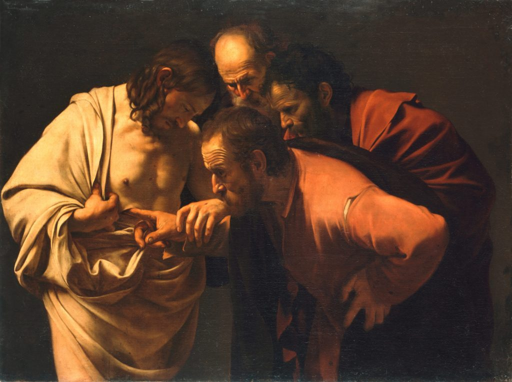 The Incredulity of Saint Thomas - Caravaggio c. 1601-1602